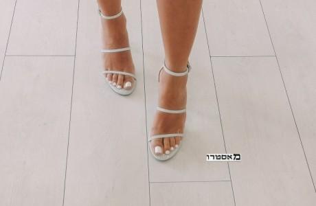 מאסטרו נעלי כלה דגם הודיה כסף נוצץ