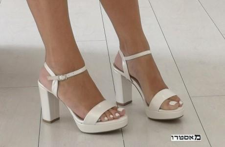 מאסטרו נעלי כלה דגם פס פנינה 10 ס