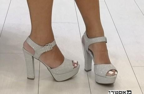 מאסטרו נעלי כלה דגם אושרית נוצץ כסף 13