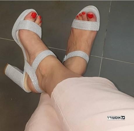 מאסטרו נעלי כלה דגם נטע נוצץ כסף